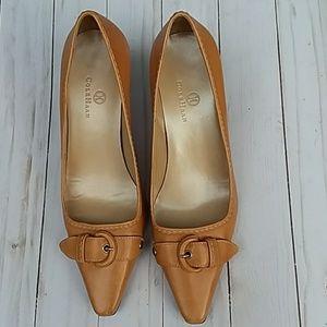 Cole Haan leather kitten heels